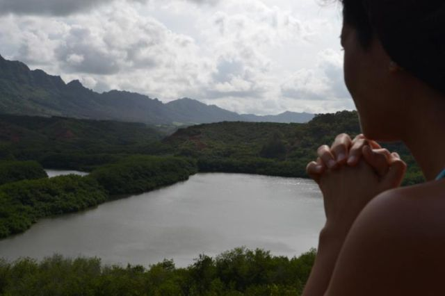 Ciera overlooking Kauai valley