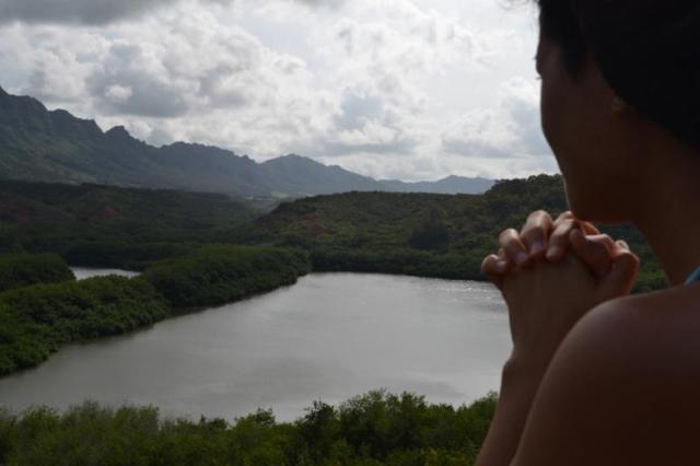 Ciera overlooking Kauai valley