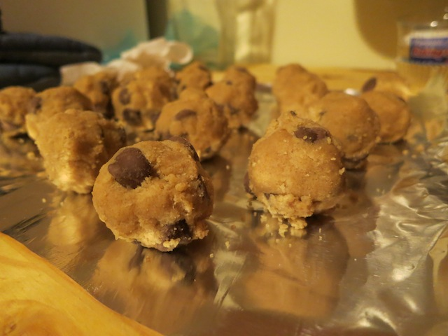 pro-tip: because this cookie dough recipe doesn't include eggs, you can make it whenever you want to eat plain cookie dough and eat it without worrying about getting salmonella!