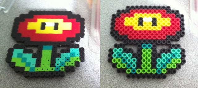 Left: A bit melty, but the other side ... Right: looked like this.