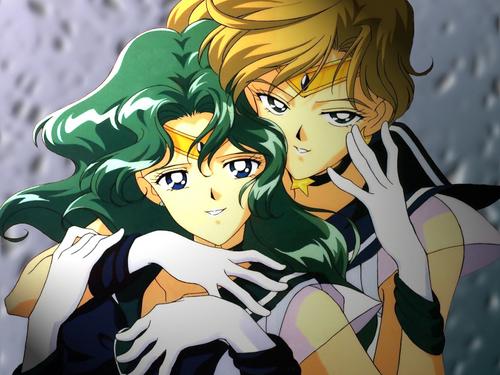 Sailor Neptune and Uranus via Fanpop