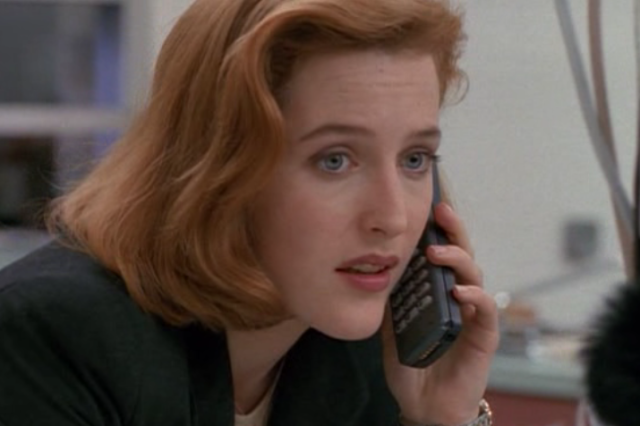 i tried really hard to capture one of scully's classic eye rolls in this episode but they don't translate well to screenshot