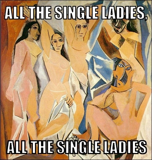 """Pablo Picasso, """"Les Demoiselles d'Avignon""""/Beyonce, """"Single Ladies"""""""