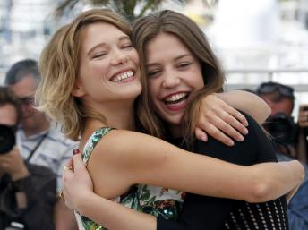 Léa Seydoux, left, and Adèle Exarchopoulos, right, via Reuters