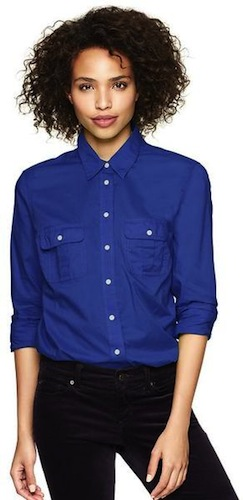 boyfriend shirt via the gap