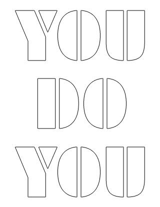 you-do-you stencil