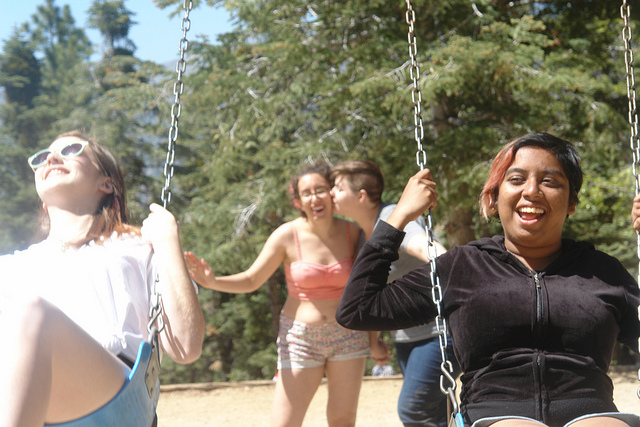 """""""babe seriously you have no idea how hot it is to see you pushing other people in swings."""""""