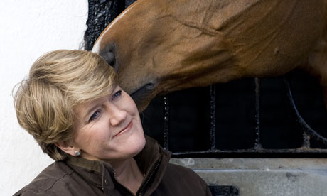 Clare Balding at Nicky Henderson Stables