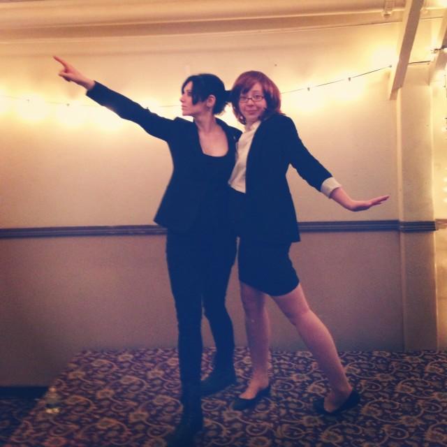 Stef & Rachel before The X-Files Screening