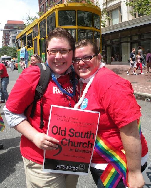 Jackie and Jess, her fianceé at Boston Pride 2012