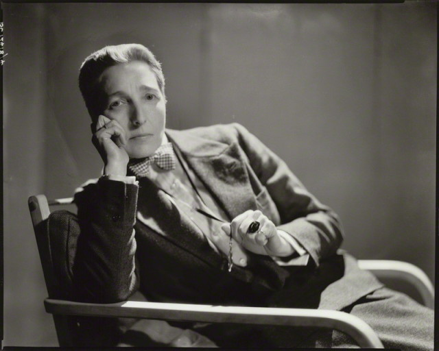Radclyffe Hall via National Portrait Gallery