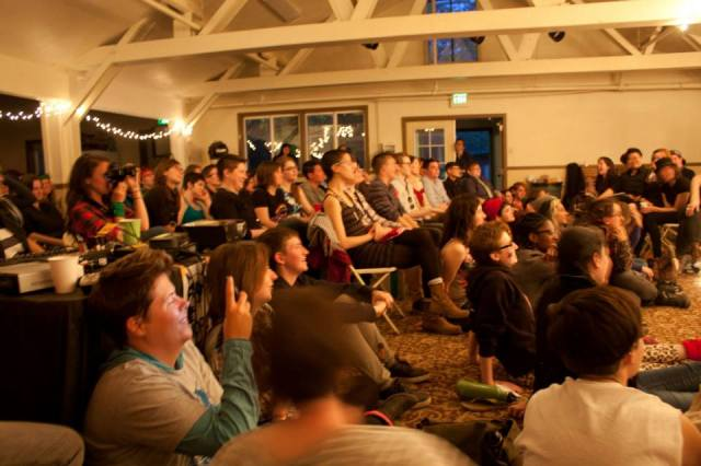 audience at the reading (photo by bree)