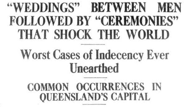 1932 headlines on gay marriage