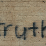 "The word ""Truth"" written on a wall at the Oklahoma City National Memorial."