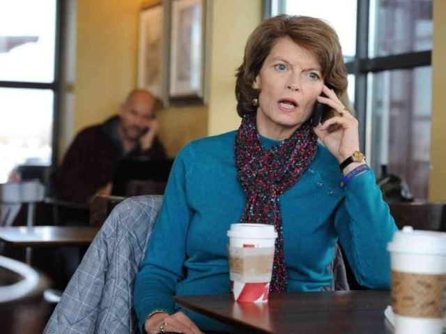 LISA MURKOWSKI DRINKS SOME FREE TRADE COFFEE; HAS THE GAYS ON THE PHONE {VIA NPR}