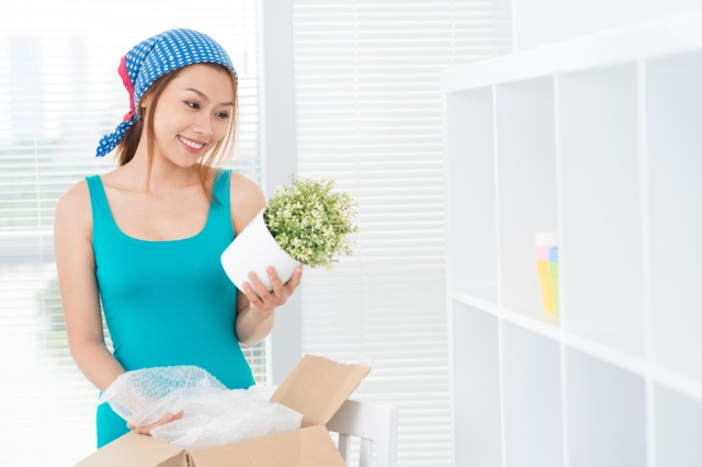 You, too, could look this happy if you stick to the moving schedule. via {Shutterstock}