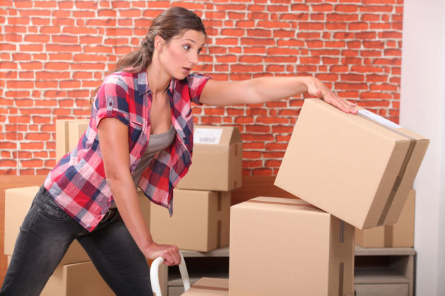 Should have hired movers. Good job on the plaid, though. via {Shutterstock}