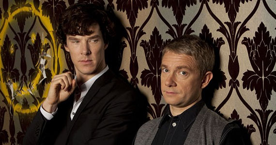 Sherlock (Benedict Cumberbatch) and John Watson (Martin Freeman) from the BBC series, via The Mary Sue