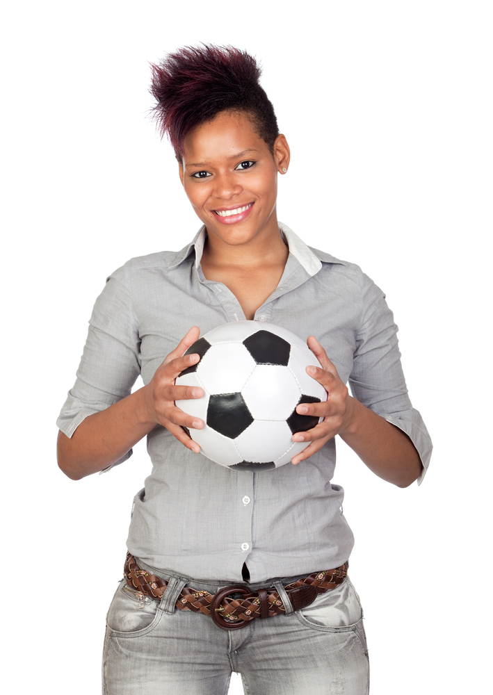 """""""oh you think i look sexy with my new soccer ball? wait 'til you see the jersey."""""""