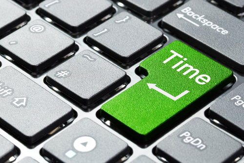 time on a keyboard