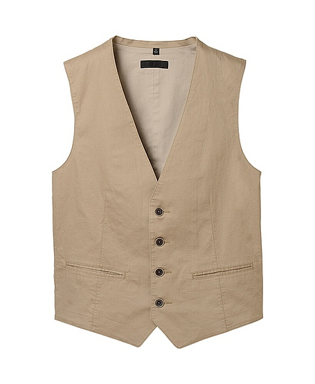 COTTON LINEN VEST available at uniqlo