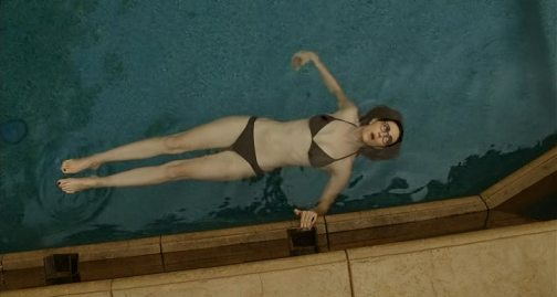 example of lesbian in pool during pool scene that takes place at pool