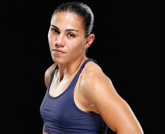 Aaaaand this is Jessica Andrade. I wanted to show you the abs. I really did. via UFC