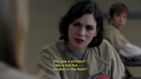 or did it lack flesh, was it a zombie chicken, do we have to deal with zombie chickens now