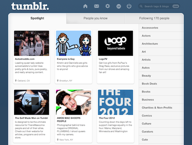 Things like the LGBTQ spotlight page, which is run by Tumblr staff, and the similarly moderated #LGBTQ will remain on the site.  via Tumblr spotlight