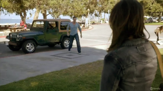 Liam drive Jeep. Liam angry. Liam stomp stomp.
