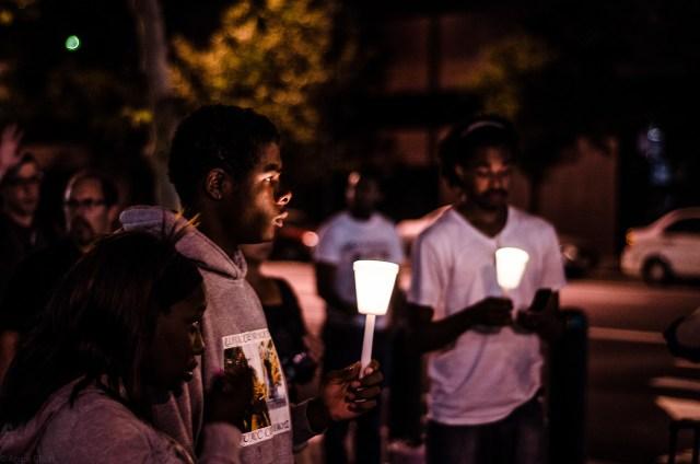 photo of sacramento protest via andre elliot photography