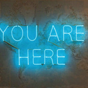 you are here neon sign