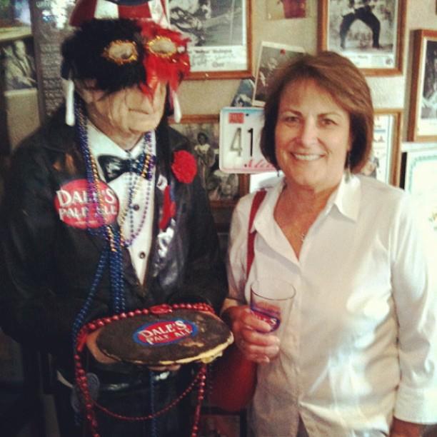 my mom at Oskar Blues