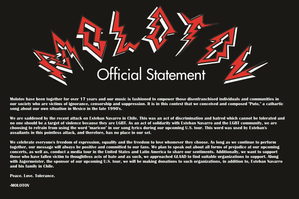 copy of the official statement