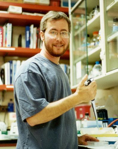 The man himself, in his lab. via http://ai.eecs.umich.edu/people/conway/TSsuccesses/FtM/BenBarres.html