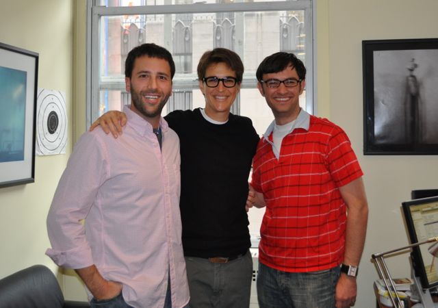 They're friends with Rachel Maddow you guys! via The Sporkful