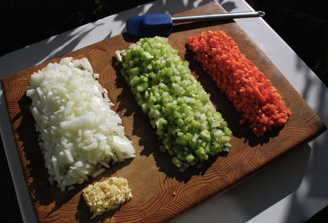 When in doubt, mondrian mirepoix.