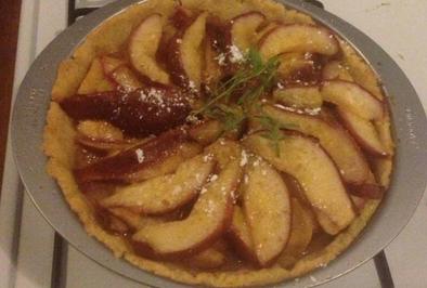 pear polenta tart