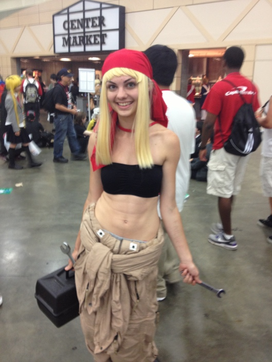 Cosplayer as Winry Rockbell from Fullmetal Alchemist