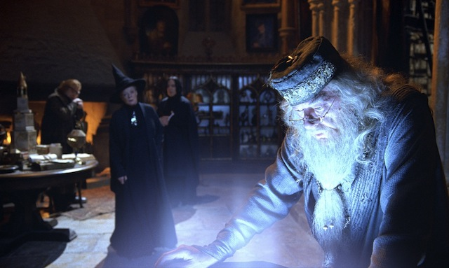 Sometimes when he is alone, Dumbledore uses the Pensieve to relive the memory of his first kiss with Grindelwald. via