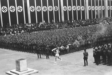 THE 1936 BERLIN OLYMPICS WERE A HUGE PROPAGANDA PLATFORM FOR THE THIRD REICH (VIA CURRYBET)