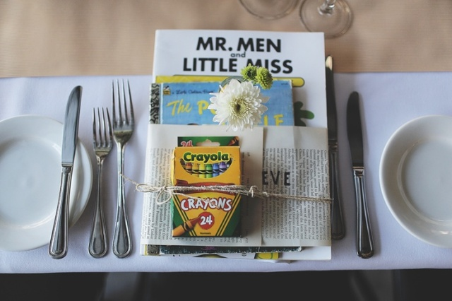 entertaining the children at a literary wedding via rock and roll brides