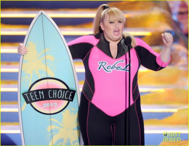 Rebel Wilson wins the day. (Via just jared)