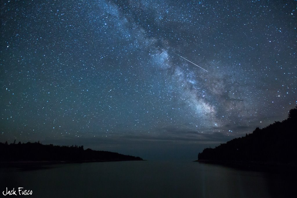 Perseids as seen from Acadia National Park, Maine, by Jack Fusco, via EarthSky