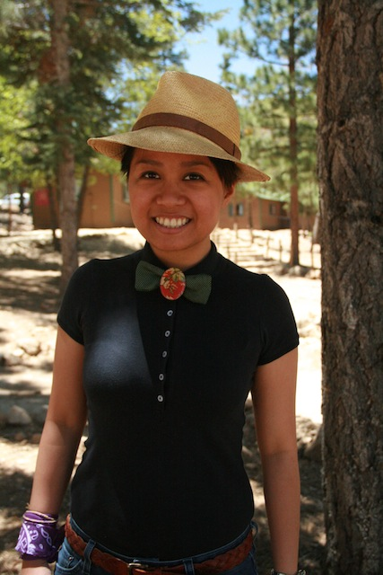 Mel, 26, at A-Camp in May 2013