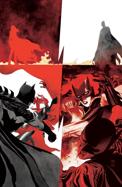 "Batwoman 24, Williams and Blackman's last issue: ""The battle between Batwoman and Batman begins here—it's all been leading to this!"" Via DC Comics."