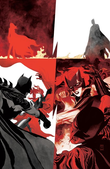 """Batwoman 24, Williams and Blackman's last issue: """"The battle between Batwoman and Batman begins here—it's all been leading to this!"""" Via DC Comics."""