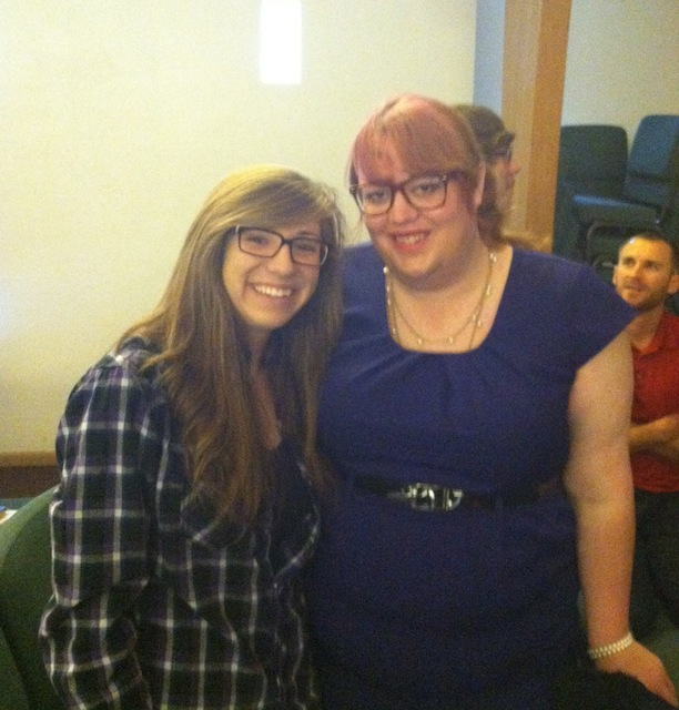 At church with a friend