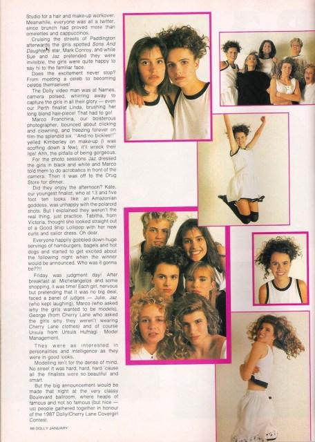 1988 cover girl contest via glossy sheen