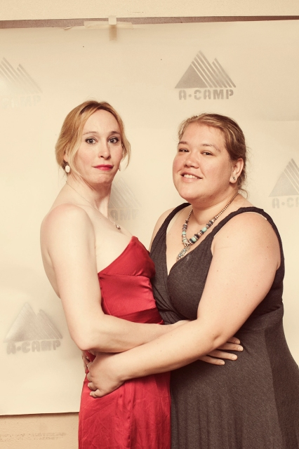 shelby and hilly at the a-camp dance